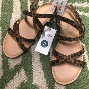Cat and Jack sandals size 2